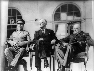 Stalin, Roosevelt, Churchill 1943