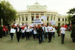 1. Mai 2015 Pflege am Boden Flashmob