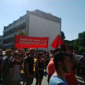 Demonstration gegen Rot-Blau im Burgenland