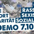 """Aufruf der Plattform für eine menschliche Asylpolitik und der Offensive gegen Rechts: """"Unsere Alternative zur politischen Entwicklung in Österreich ist Solidarität! Die Solidarität der Menschen untereinander, die Solidarität der Bevölkerung […]"""