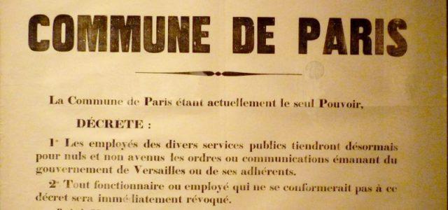 Vor 150 Jahren, am 18. März 1871, wollte die französische Armee die Nationalgarde von Paris entwaffnen und 227 Artilleriegeschütze rauben, die die Bevölkerung von Paris finanziert und vor den einrückenden […]